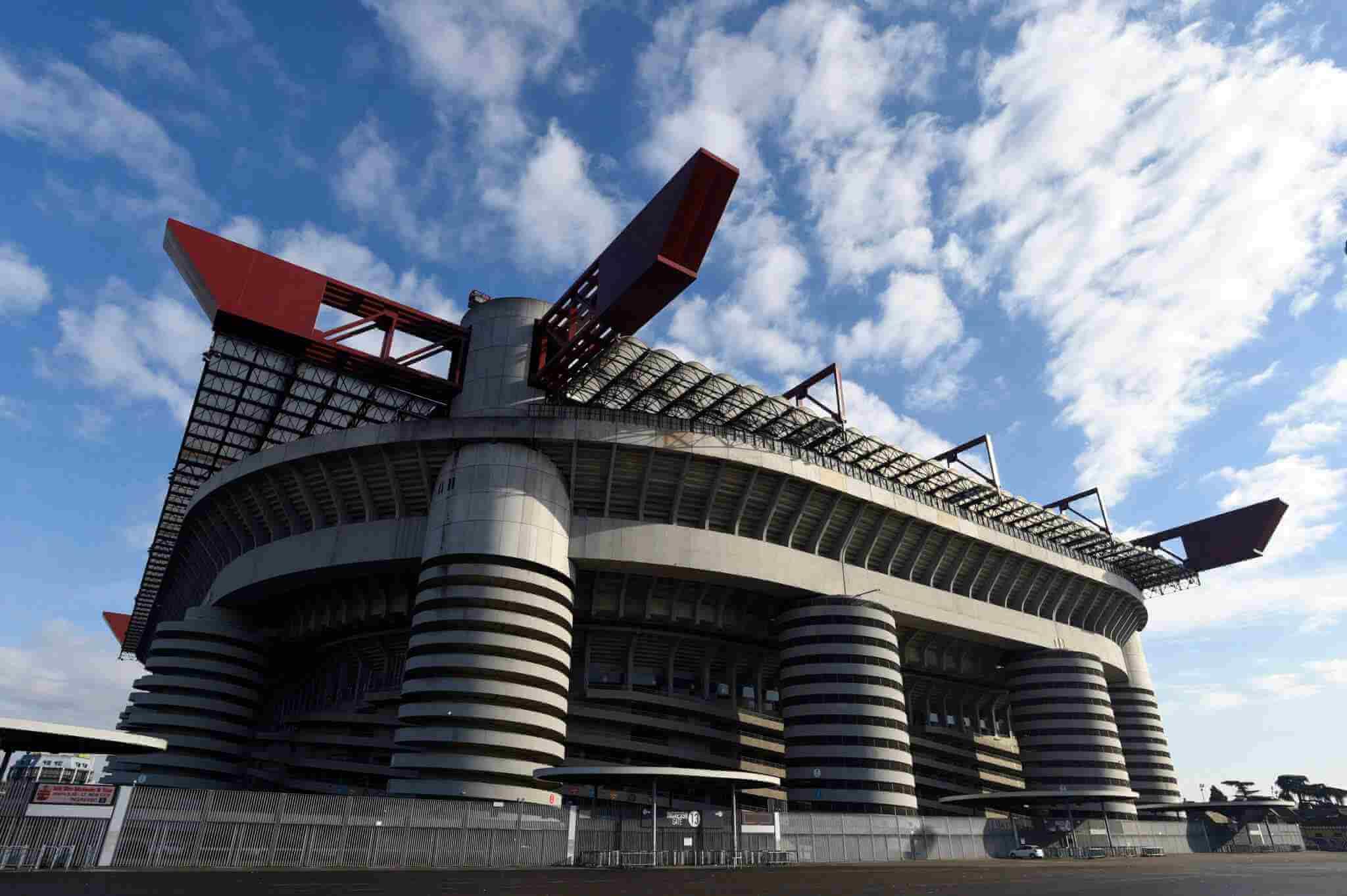 Milan derby i Serie A på San Siro