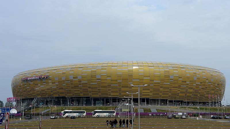 Stadion Miejski i Gdańsk hvor Europa League-finalen 2021 spilles